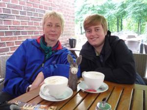 gemeinsames Kaffetrinken mit Daniela in Münster