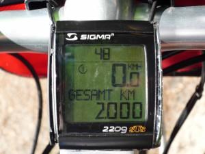 Freitag,110714 um 1233h 2000 km erreicht