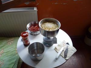 Kochaktion auf dem Zimmer