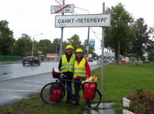 Ankunft in St Petersburg