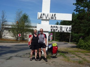 Grenzübergang nach Lettland