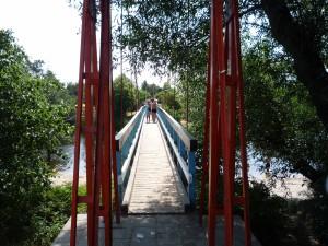 Hängebrücke als Nadelöhr