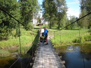 Hängebrücke in Mustvee