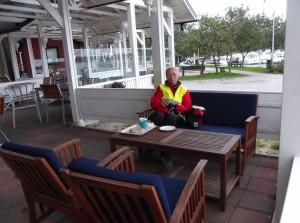 Pause im Hafen von Nauvo