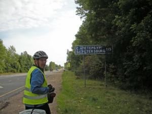 auf dem Weg nach St Petersburg