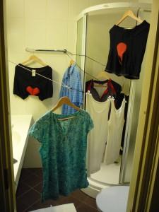 große Wäsche im Hotel