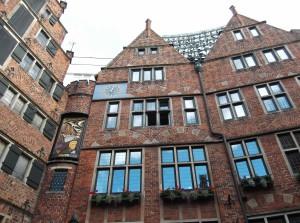 das Glockenspiel in der Bötcherstraße